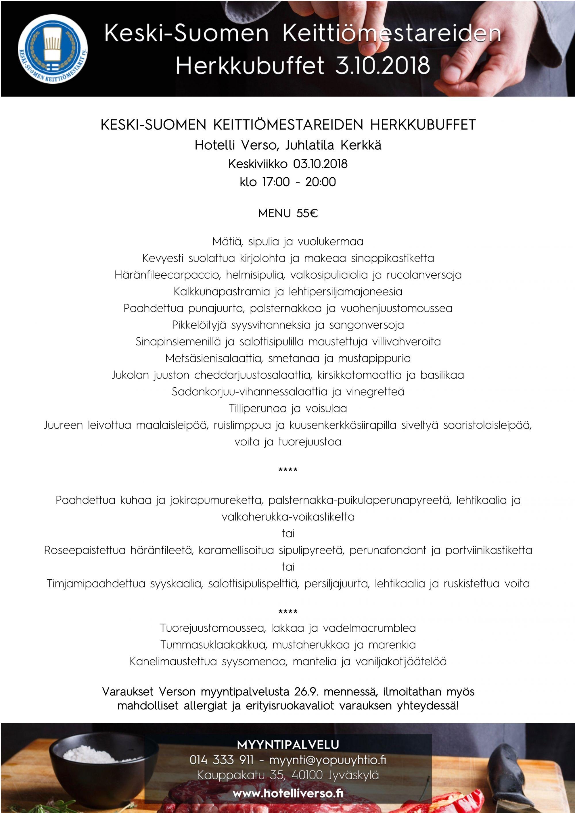 KSKM herkkubuffet menu